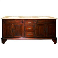 Double 72 in. W Brown Birch with MDF Vanity Product Image