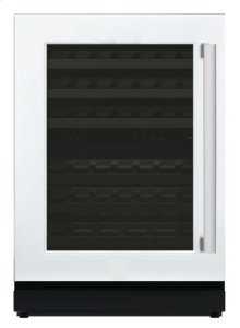 24 3/16'' Glass Door Wine Reserve Left Hinge Custom Panel Ready T24UW800LP