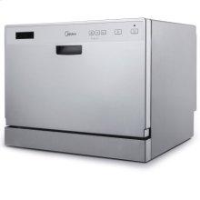 6-Place Setting Countertop Dishwasher - Black