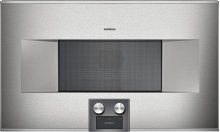 "Combi-microwave oven 400 series BM 484 710 Stainless steel-backed full glass door Width 30"" (76 cm) Right-hinged"