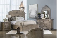 Arch Salvage Eastern King Chambers Panel Bedroom Group: King Bed, Nightstand, Dresser & Mirror