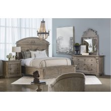 Arch Salvage Eastern King Chambers Panel Bedroom Set: King Bed, Nightstand, Dresser & Mirror