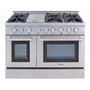 "Thor48"" 6 Burner Stainless Steel Professional Gas Range"