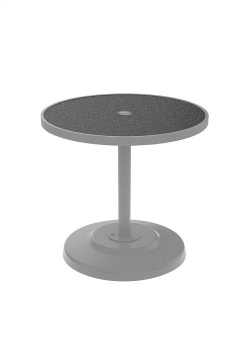 "Raduno 30"" Round KD HPL Pedestal Dining Umbrella Table"