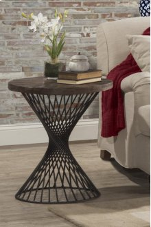Kanister End Table With MDF Wood Top