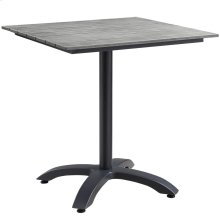 """Maine 28"""" Outdoor Patio Dining Table in Brown Gray"""