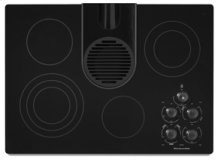 """4 Elements Pure Ceramic Glass Surface with Built-In Downdraft Vent Electric 30"""" Width Architect® Series II"""