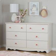 6-Drawer Double Dresser - White Wash
