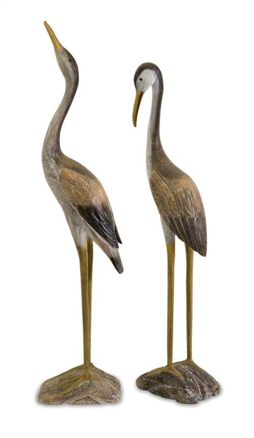 Reeds Wood Cranes - Set of 2