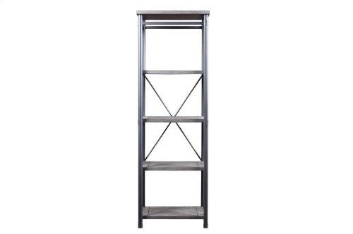 Side Pier/ 4-Shelf Bookcase