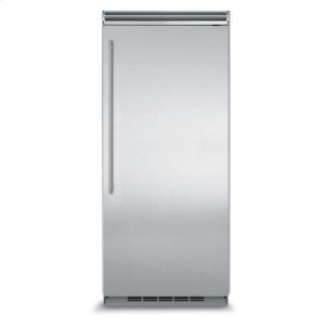 "MarvelProfessional Built-In 36"" All Refrigerator - Solid Stainless Steel Door - Left Hinge, Slim Designer Handle"