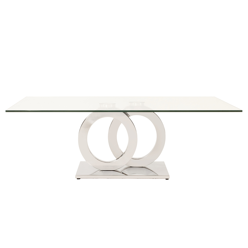 additional stainless steel coffee table with circular base