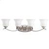 Wedgeport Collection Wedgeport 4 Light Bath Light in Brushed Nickel