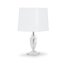 Montreal Crystal Table Lamp w/Rect Shade, White, - Pack/2