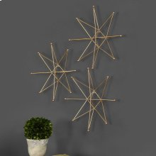 Gold Stars Metal Wall Decor, S/3