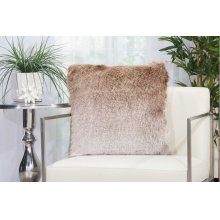 "Shag Tr011 Beige/silver 20"" X 20"" Throw Pillows"