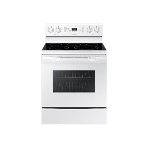 5.9 cu. ft. Freestanding Electric Range with Warming Center - WHITE