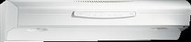 """30"""", White-on-White, Under Cabinet Range Hood, 300 CFM"""