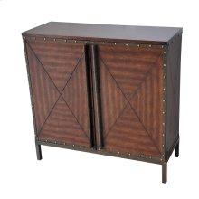 Ventura 2 Door Century Wood and Metal Cabinet