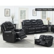 "Park Avenue Pwr-Pwr-Pwr Console Loveseat Black 79""x40""x43"" Product Image"