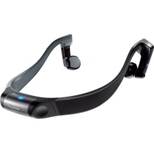 Premium Bluetooth ® Wireless Water-Resistant Open-Ear Headphones RP-BTGS10-A - Blue/Yellow