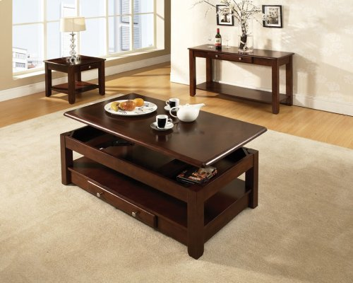 """Nelson Lift-Top Cocktail Table, Cherry, 48""""x26""""x18"""""""