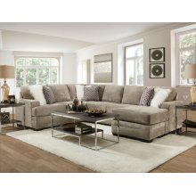 2760 Delta Hollywood Velvet Sectional with Reversible Chaise