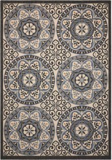 Caribbean Crb15 Ivory/charcoal Rectangle Rug 5'3'' X 7'5''