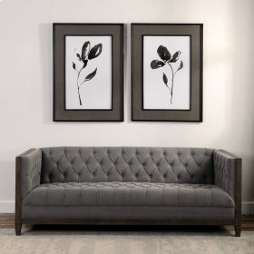 Solitary Sumi-e Framed Prints, S/2