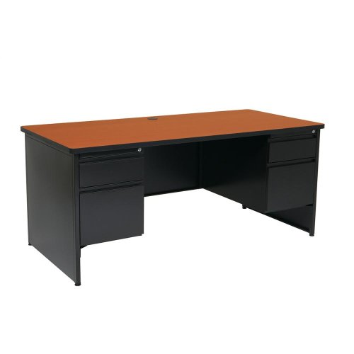 Metal Desk Double Pedestal 68x32
