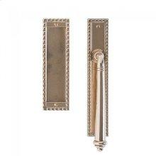 "Corbel Rectangular Lift & Slide - 2"" x 11"" White Bronze Dark"