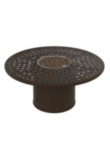 """Garden Terrace 55"""" Round Fire Pit, Built-In Ignitor"""