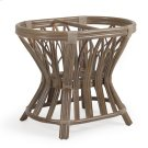 Rattan Oval Dining Table Base in Weather Grey 8846 Product Image