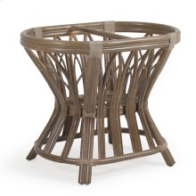 Rattan Oval Dining Table Base in Weather Grey 8846