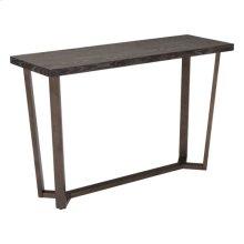 Brooklyn Console Table Gray Oak &a.brass