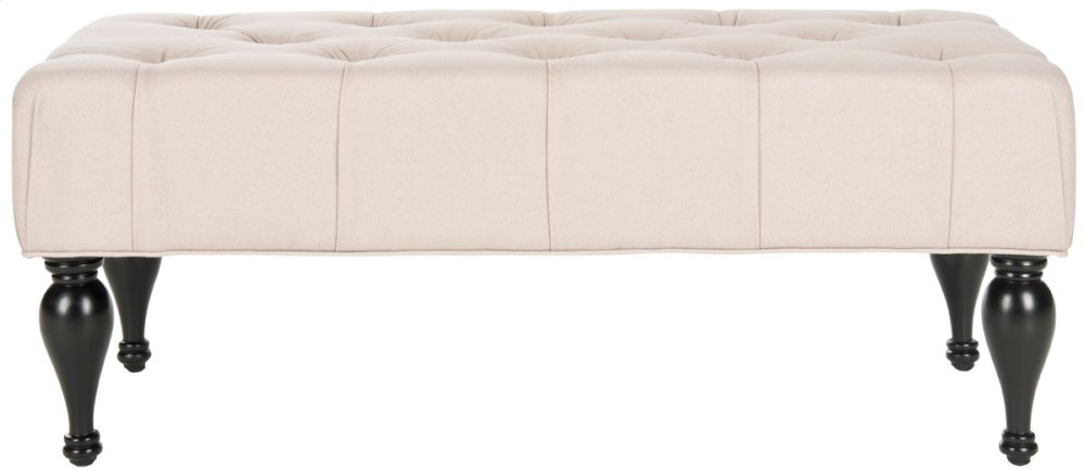 Rupert Tufted Bench - Taupe
