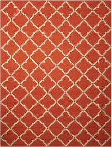 Portico Por01 Orange Rectangle Rug 5' X 7'6''