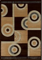 Contours Spiral Canvas Chocol Rugs Product Image