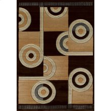 Contours Spiral Canvas Chocol Rugs