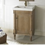 "FAIRMONT DESIGNSRustic Chic 21x18"" Vanity - Weathered Oak"