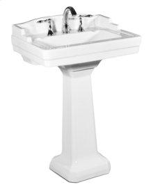 White NEO-VENETIAN Pedestal Lavatory Petite, 8-inch spread