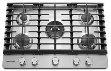 30'' 5-Burner Gas Cooktop - Stainless Steel (Clearance Sale Store: Owensboro only)