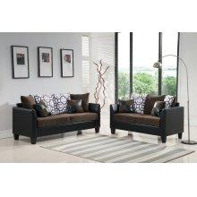 Brown Sofa, Loveseat