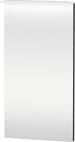 Mirror With Lighting, Black High Gloss Lacquer