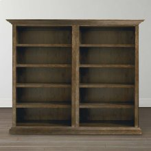 Compass Western Brown Compass Double Open Bookcase