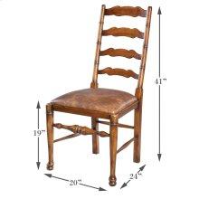Ladderback Side Chair,Old World Walnut