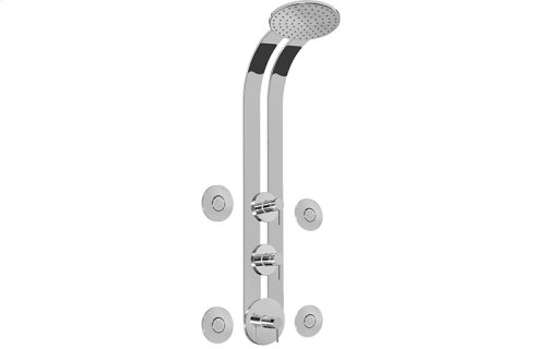 Round Thermostatic Ski Shower Set w/Body Sprays (Rough & Trim)