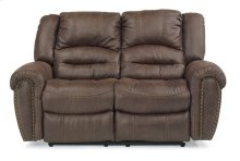 Downtown Fabric Reclining Loveseat
