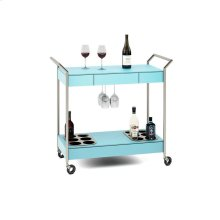 Mobile Bar Cart in Aqua