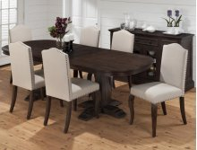 HOT BUY CLEARANCE!!! Grand Terrace Oval Dining Table and Base with 6 chairs